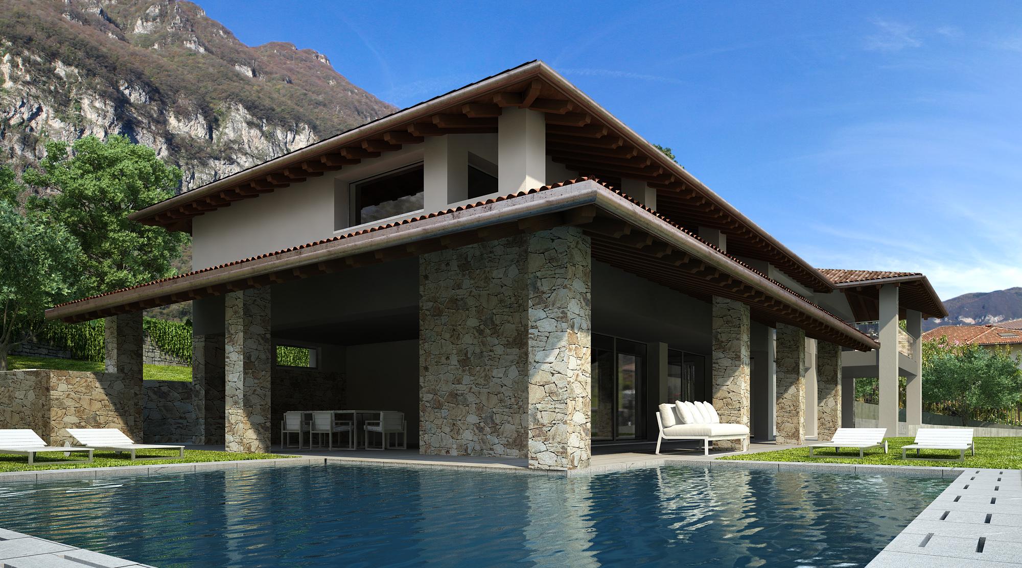 Villa Ulivi, Tremezzo. Nuova costruzione con vista lago